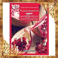 Маска тканевая с экстрактом граната Lebelage Pomegranate Natural Mask