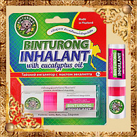 Ингалятор Binturong Thai Inhalant Whith Eucalyptus Oil с маслом эвкалипта