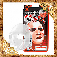 Маска для лица с Красным женьшенем Elizavecca Red Ginseng Deep Power Ringer Mask Pack