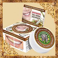 Зубная паста с кокосовым маслом Binturong Coconut Thai Herbal Toothpaste