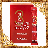 Тестер восстанавливающего шампуня с аминокислотами Masil 3 Salon Hair CMC Shampoo