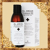 Масло арганы для восстановления волос Dr Argan Treatment Oil The Skin House