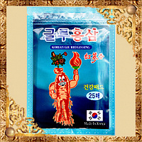 Пластырь с глюкозамином и красным женьшенем Korean Glu Red Ginseng - 25/20 пластин