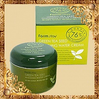 Осветляющий крем Green Tea Seed Whitening Water Cream FarmStay