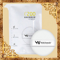 Спонж-пилинг для лица с витамином С C200 Bubble Peeling Pad For Face Wish Formula
