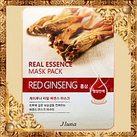 Тканевая маска с красным женьшенем Juno Real Essence Mask Pack Red Ginseng