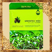 Маска для лица Green Tea Seed Visible Difference Mask Sheet FarmStay